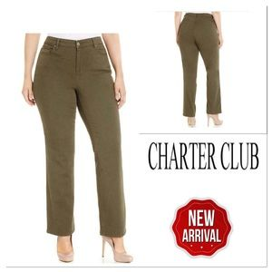 Charter Club Womens Sage Tummy Control Pants Sz10